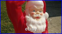 Vintage Empire Santa Claus Sleigh Sled Rudolph Reindeer Lighted Blow Mold 1970s