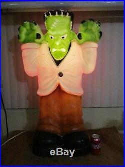 Vintage Halloween Frankenstein Lighted Blow Mold Lawn Decor 36 by General Foam