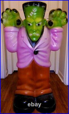 Vintage Halloween Frankenstein Lighted Blow Mold Lawn Décor 36 by General Foam