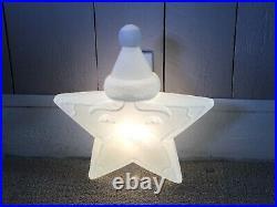 Vintage Santa Star Plastic Blowmold Blow Mold Christmas Union Products Light Up