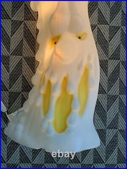 Vintage Scared Melting Candle Blow Mold 2 Sided Face 36 Halloween Holiday Yard