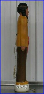 Vintage Thanksgiving Harvest Native American Indian Don Featherstone Blow Mold
