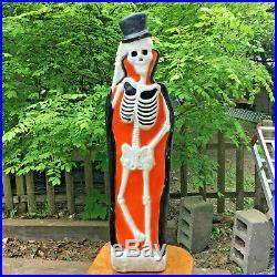 Vintage Top HAT & Tails SKELETON Light UP Halloween Blow Mold EMPIRE 36 Social D