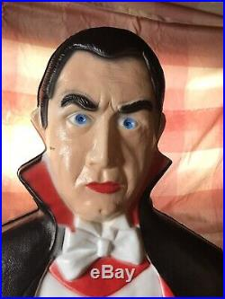 Vintage Union Products Bela Lugosi as Dracula Blow Mold Don Featherstone