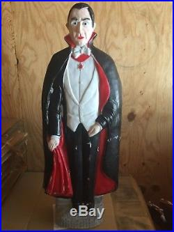 Vintage Union Products Bela Lugosi as Dracula Vampire Blow Mold Don Featherstone