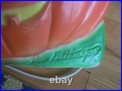 Vintage Union Products Don Featherstone Halloween Wreath Blowmold Yard Decor 2
