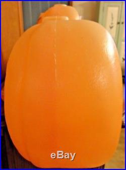 Vtg 33 Union Pumpkin Jol Happy Halloween Blow Mold Don F. Light Yard Decor Prop