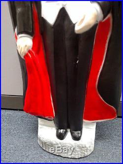 Vtg Bela Lugosi Dracula Universal Monsters Halloween Blow Mold Plastic Light