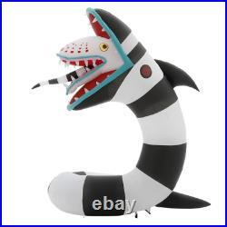 Warner Pre-Lit Beetlejuice Sandworm 9.5 ft. Animated Airblown Inflatable Plug-in