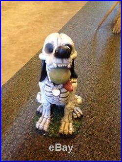 Zombie Skeleton Dog Halloween Garden Prop Yard Scary Outdoor Spooky 19 HTF
